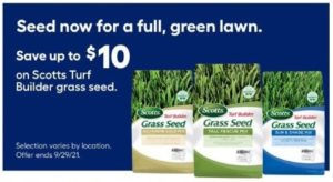 Up to $10 Off Scotts Turf Builder Grass Seed