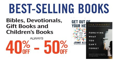 40% Off – 50% Off Best-Selling Books