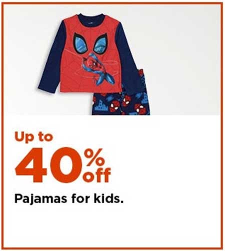 Up to 40% Off Pajamas for Kids